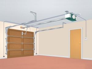схема автоматических гаражных ворот